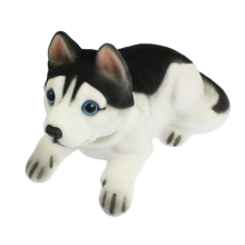 Car Auto White Black Husky Nodding Dog Decoration w Fragrant Beads(China)