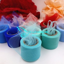 2inch 25Yards 5cm Crystal Tulle Organza Ribbon Roll Giftbox Wrap Ribbon Wedding Decoration Table Runner 22.8Meters