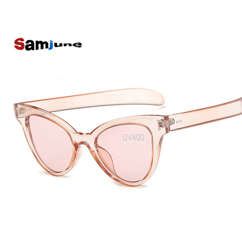 Samjune cat eye vintage sunglasses women top fashi...