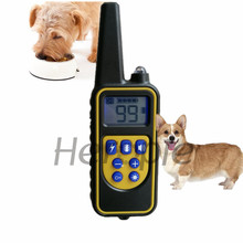 Heropie Newest Pet dog trainer Waterproof and Rechargeable Dog Training Collar Remote Shock electronic control Collar(China)