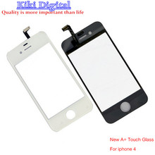 New High quality Front Glass Lens Touch Screen Digitizer For iPhone 4 4S 4G Replacement White LCD Screen Case + Gift