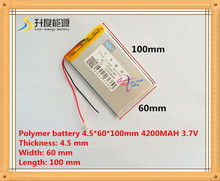 New 4560100 3.7v 4200mah tablet battery Polymer battery 3.7V elf U25GT 7 Inch / DVD polymer battery Rechargeable bat