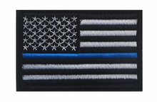 Tactical American USA Flag SWAT Police law enforcement Thin Blue Line United States Flag HOOK LOOP Patch Embroidered Patch