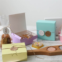100pcs Pure Color Printed Backing Food Carton Boxes, Cookies Boxes,Wedding Gift Box for Guest 11*11*5cm/14*14*5cm