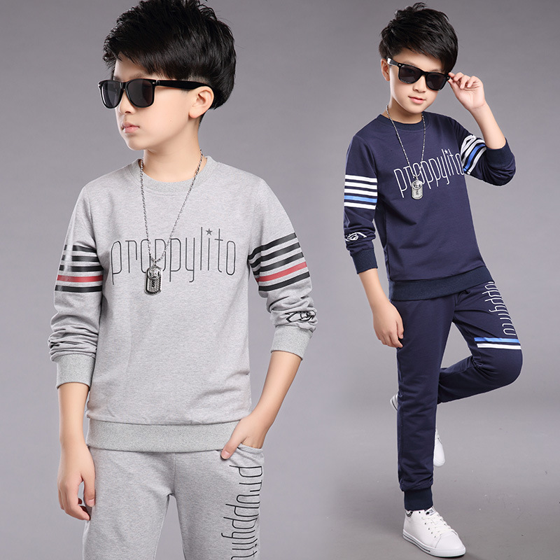 Boys Childrens Garment Long Sleeve Suit Spring And Autumn New Pattern Child Motion Two Pieces Kids Clothing<br>