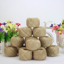 1Pcs!  30 M/Roll Jute Twine Natural Sisal Rope 1.5mm Rustic Tags Wrap Wedding Decoration Crafts Rope String Cords Party Supplies