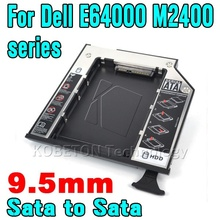 "9.5mm 2.5"" Aluminum SATA 3.0 2nd HDD Enclosure SSD Case for Dell E series E6400 E6410 E6500 E6510 Hard Drive Disk Caddy"