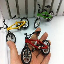 Mini Fuctional Finger BMX Toys Mountain Bike Fixie Bicycle Toy Creative Game Workmanship Toy Gift New Random Color Wholesale #95(China)