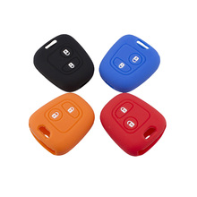 Car Styling Silicone Key Case for Peugeot 206 307 207 408 Protection Key Shell Cover With L0G0