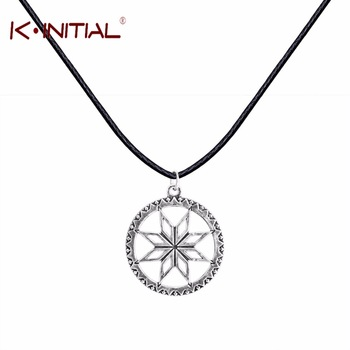 Kinitial 1Pcs Antique Silver Necklace For Women Nordic CELTIC ARYAN Pendant Amulet Shield Alatir Vintage Fasion Necklace Jewelry