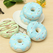 New Universal 1pc Jumbo 8.5CM Charming Donut Cream Scented Simulation Food Phone Strap For Cellphone For Key For Bag