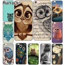 MaiYaCa Owl Soft Phone Case For iphone 5s 6 6s Owl 6plus 6splus 7plus 8 8Plus X Transparent TPU Cell Phone Protective Cover case(China)