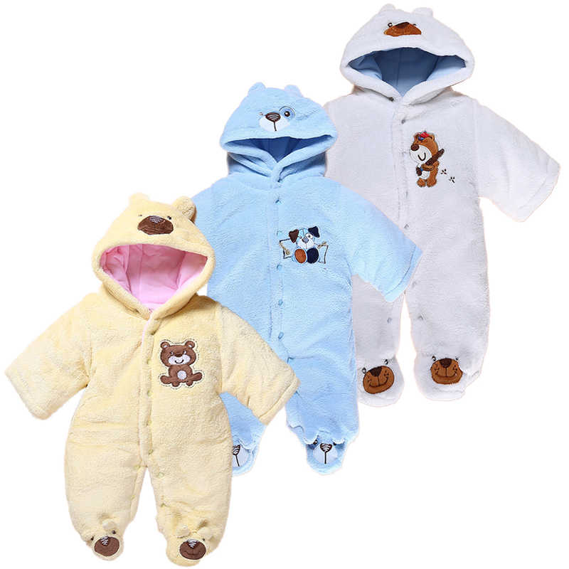 aa28d9e71625 Detail Feedback Questions about Cute Autumn Winter Cotton Baby Romper  Fleece Long Sleeve Coverall Hooded Infant Jumpsuit Bear Down Snowsuit  Babies Jumpsuits ...