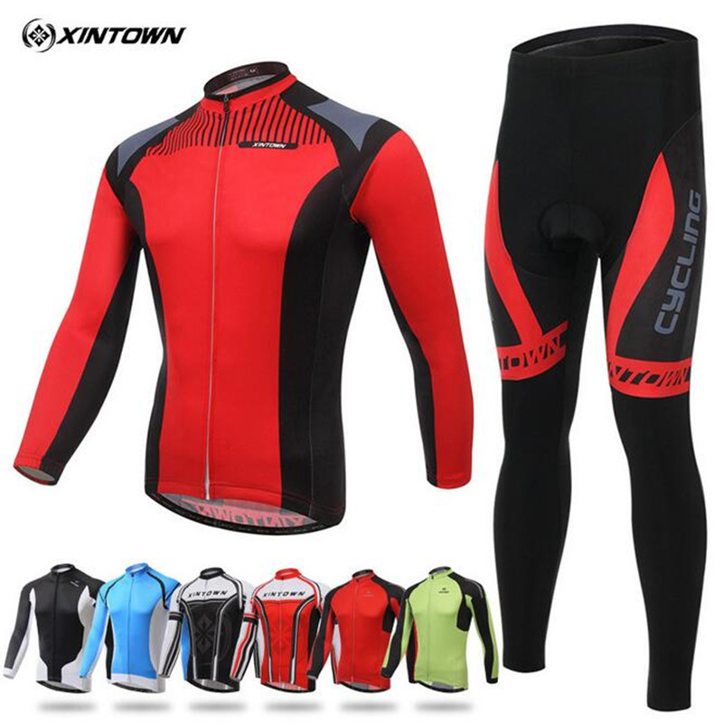 2017 XINTOWN Riding Clothes mtb bike maillot ropa ciclismo Long Sleeves cycling jersey mountain Bicicleta cycling clothing set<br>