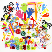 100PCS Toys for Kids Party Favors Supplies Girl Boy Birthday Gift Bags Pinata Fillers Children Carnival Prizes School Reward(China)