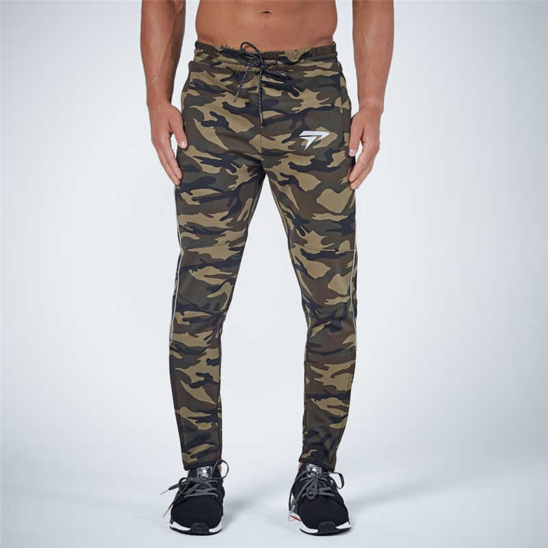 GYMOHYEAH NEW pants Men's High quality workout bodybuilding clothing casual camouflage sweatpants joggers pants skinny trousers 19