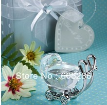 Wholesale 100pcs/lot Baby Shower Favors Choice Crystal Celebrations Baby Carriage Party Souvenirs