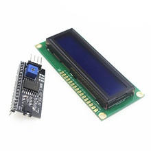 Free shipping 1602 16x2 HD44780 Character LCD /w IIC/I2C Serial Interface Adapter Module