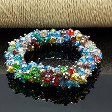 Buy 3PCS Mixed Color Crystal Glass Beads Bangle Bracelet HOT DIY manual wear bead stretch Crystal Bracelet 6 mm for $9.33 in AliExpress store