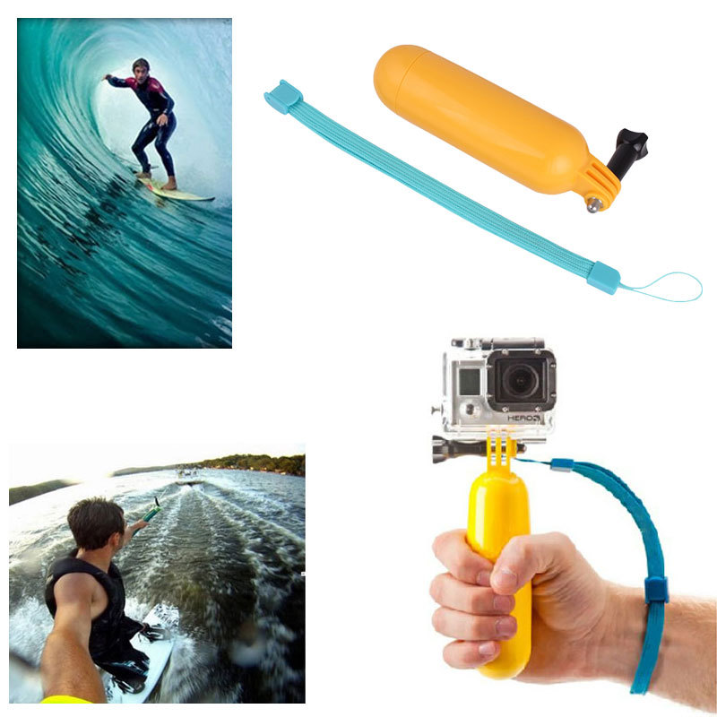 Bobber Floating Mount Floaty Hand Grip Bobber Monopod Handle Pole Tripod Gopro Hero 3 3+ 4 Xiaomi Yi 4K SJ4000 Accessories
