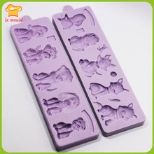 LXYY Mold Baking Tools Cute Variety of Dogs Glucose Silicone Mold Variety of Cat Silicone Resin Mold Chocolate Moisturite Clay