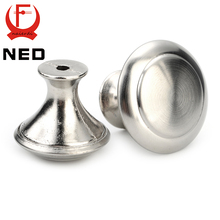 NED Diameter 24mm 28mm Cabinet Handle Stainless Steel Circle Round Handles Drawer Furniture Wardrobe Knobs Pull Handle Hardware