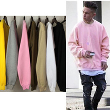 Promotion! Multi Color Pink Yellow Kanye Pullover Crewneck Thin Sweatshirt Men n Women Autumn Fall jumper Boy or Girl US SIZE