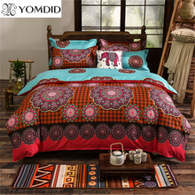 Bohemia bedding set Mandala pattern Bedclothes Bed Cover 3D printing duvet cover set Cotton Bed linens twin/full/queen/king size(China)