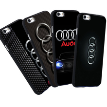 For iPhone 5 S 5S SE 6 6S Plus 7 Audi Case Luxury Car Audi A4 A6 Logo Printed Phone Black Silicone Soft Case