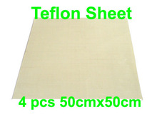 Free shipping Discount 4pcs 50cmx50cm Teflon Sheet for Heat Transfer Heat Press Teflon Film Sublimation(China)