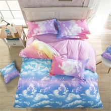 Comforter Bedding Set Reactive Printed Sky Clouds Duvet Cover Sets Cotton Queen/Full/Twin Size
