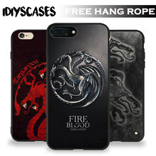 House Targaryen Game of Thrones Tpu Soft Silicone Phone Case Cover For Apple iPhone 5 5S SE 6 6S 6Plus 6sPlus 7 7Plus 8 8Plus X(China)