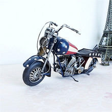 New Fashion American style Retro metal craft vintage handmade motorcycle model toy pub/home decoration Promotion/business gift