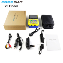 Newest Digital Satellite Finder Meter Freesat V8 Finder HD DVB-S2 FTA LNB Signal Pointer Satellite TV Receiver Tool For Sat Dish