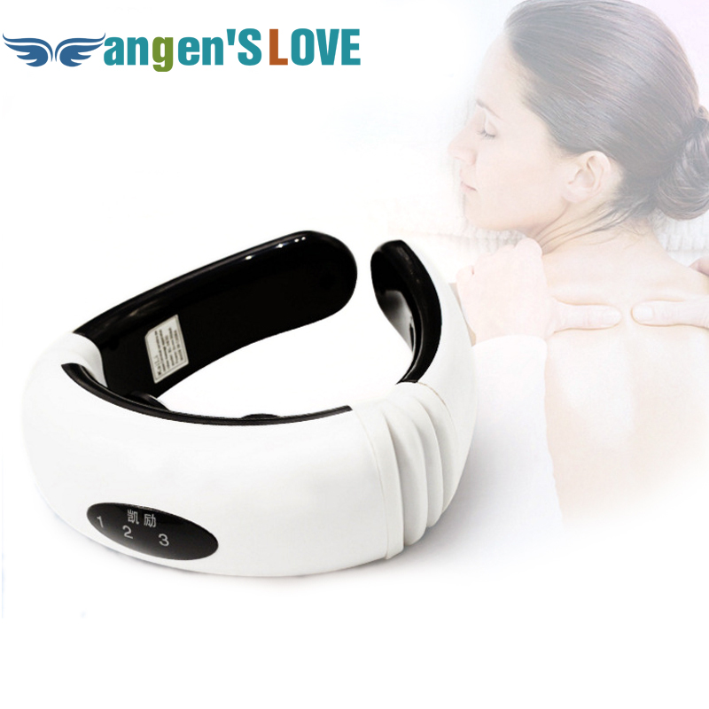 Electric pulse Back and Neck massager Cervical Vertebra Treatment Instrument Acupuncture magnetic therapy Neck Body Treatment<br>