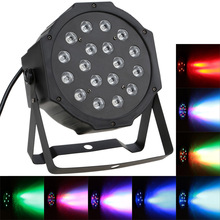 Professional LED Stage Lights 27W 18 RGB PAR LED DMX Stage Lighting Effect DMX512 Master-Slave Led Flat for DJ Disco Party KTV(China)