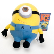 filling toy cartoon single eye design Minion doll plush toy Christmas gift w5162(China)