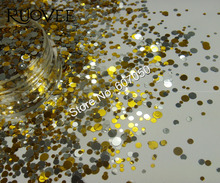 B1-Mixed Colors Round Dot Glitter Paillette Spangle Shapes for Nail Art Glitter Craft Decoration and Makeup