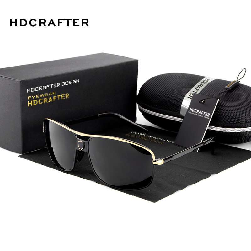 New 2017 HDCRAFTER Fashion Driving Car Male CR39 Fishing Polarized Aviator Vintage Sunglasses Man Brand Designer Sports E699<br><br>Aliexpress