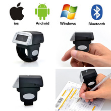 Kercan Portable Wearable Ring Laser Barcode Scanner 1D USB Reader Mini Bluetooth Scanner