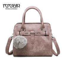 DORIA DORE Women Messenger Bags michael Handbags Style Fur Ball Leather Shoulder Bags Luxury louis cc Bags bolsos sac a main bag