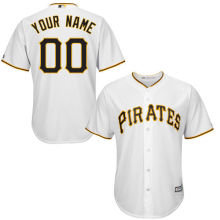 MLB Youth Pittsburgh Pirates Baseball White Custom Cool Base Jersey(China)