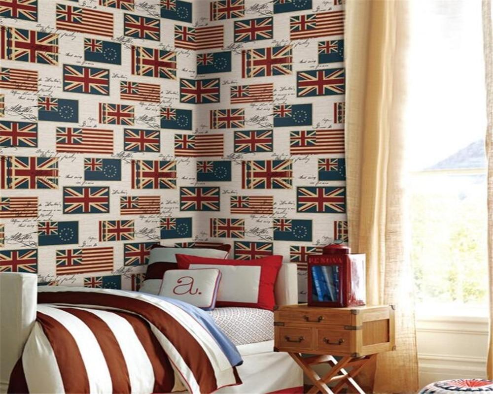 Beibehang wallpaper for walls 3 d Paper 3d Wallpaper alphabet Mediterranean English Flag 3D wallpaper Room living room wallpaper<br>
