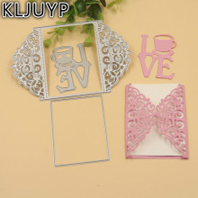 KLJUYP Invitation Card die cuts,metal die cutting dies in scrapbooking embossing folder suit for  cutting machine