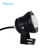 Express 10W 12-24V RGB Black LED Underwater Floollight waterproof  Flood Llight Pool Lake Landscape outdoor with Convex Glass