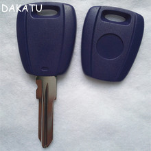 DAKATU Replacement Car Transponder Key Case SHell For Fiat BRAVA key shell GT15R Blade can install glass and ceramic chip(China)