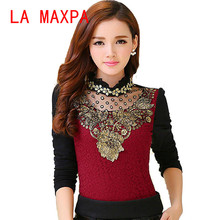 Buy Women Clothes 2017 Vetement Femme Shirt Women Blouses Lace Blouse Autumn Winter Blusas Long Sleeve Plus Size Feminina Tops for $10.40 in AliExpress store