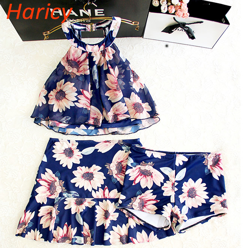 2018 Hot Floral Bikini Sexy Push Up Halter Swimwear Women Dress Retro Vintage Beach Bathing Suits Reflective Swimsuit <br>