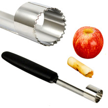 New Stainless Steel Core Remover Fruit  Corer Pear Apple Easy Twist PP Handle  Kitchen Tool Gadget