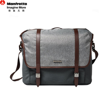 Manfrotto LF-WN-MM Camera Messenger Bag Genuine Leather Nylon Fabric SLR Bag Portable Photography Accessories DSLR Carry Bags